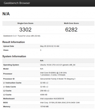 nuc-geekbench-result